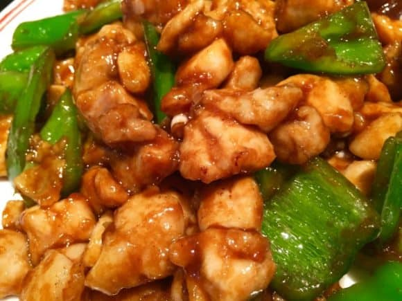 鶏肉とピーマンのケチャップ炒め