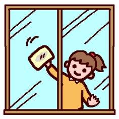 窓拭きイラスト